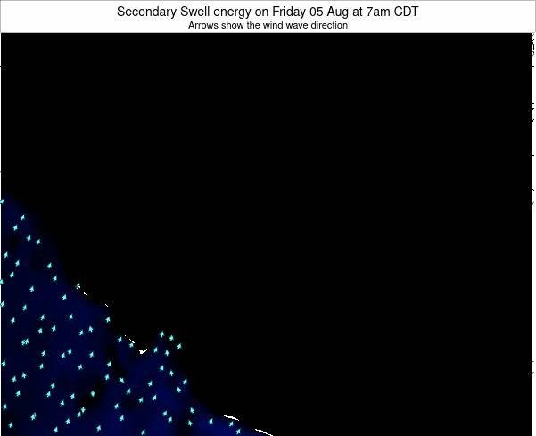 Texas Secondary Swell energy on Thursday 25 Apr at 1am CDT map