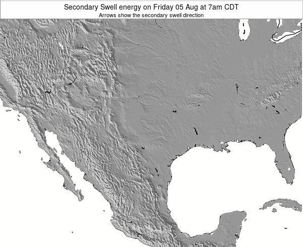 Texas Secondary Swell energy on Monday 22 Apr at 1pm CDT map