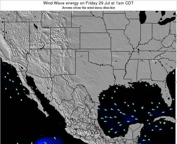 Texas Wind Wave energy on Sunday 26 May at 7am CDT