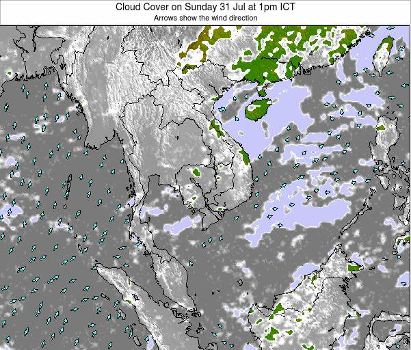 Thailand Cloud Cover on Sunday 26 May at 1pm ICT