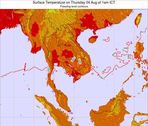 VietNam Surface Temperature on Sunday 26 Oct at 1pm ICT