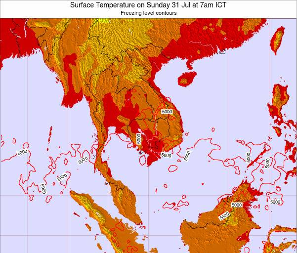VietNam Surface Temperature on Wednesday 29 Oct at 1am ICT