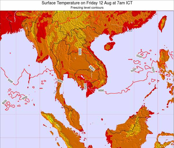 VietNam Surface Temperature on Wednesday 30 Apr at 7am ICT