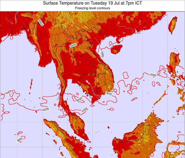 VietNam Surface Temperature on Saturday 26 Apr at 1pm ICT