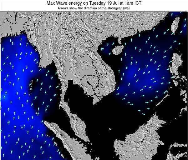 Thailand Max Wave energy on Saturday 07 May at 1pm ICT
