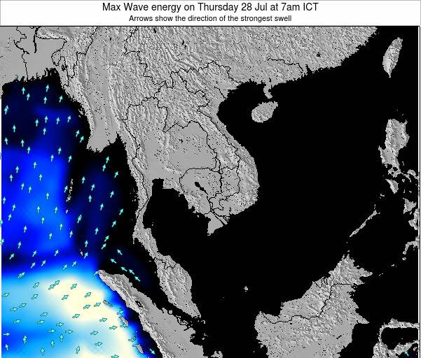 Thailand Max Wave energy on Tuesday 29 Apr at 7pm ICT