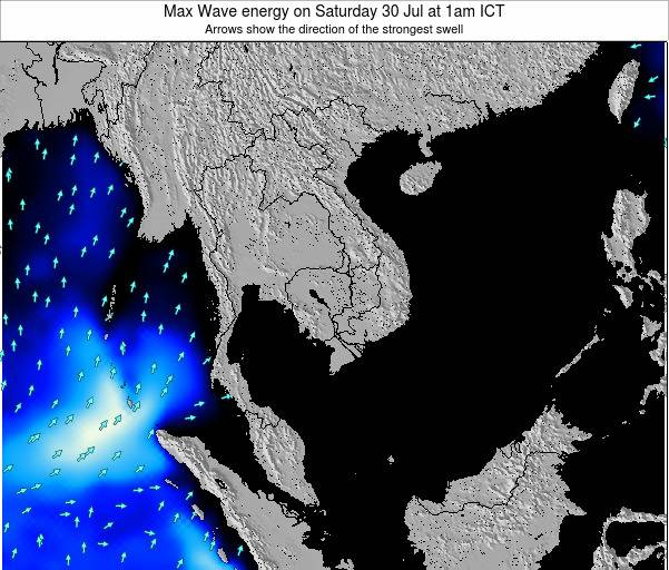 Thailand Max Wave energy on Wednesday 05 Apr at 1am ICT