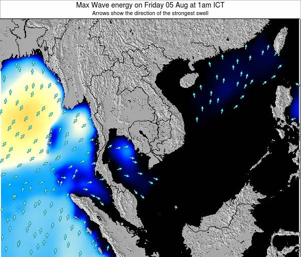 Thailand Max Wave energy on Saturday 02 Aug at 1pm ICT