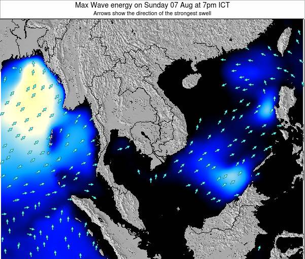 Thailand Max Wave energy on Sunday 06 Dec at 1am ICT