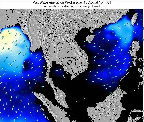 Thailand Max Wave energy on Thursday 05 May at 7am ICT