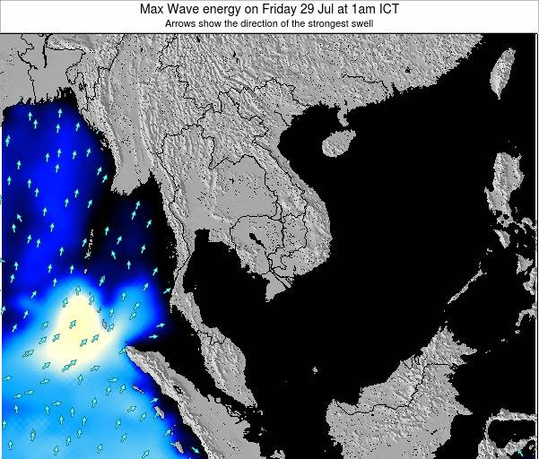 Thailand Max Wave energy on Tuesday 05 Aug at 7am ICT