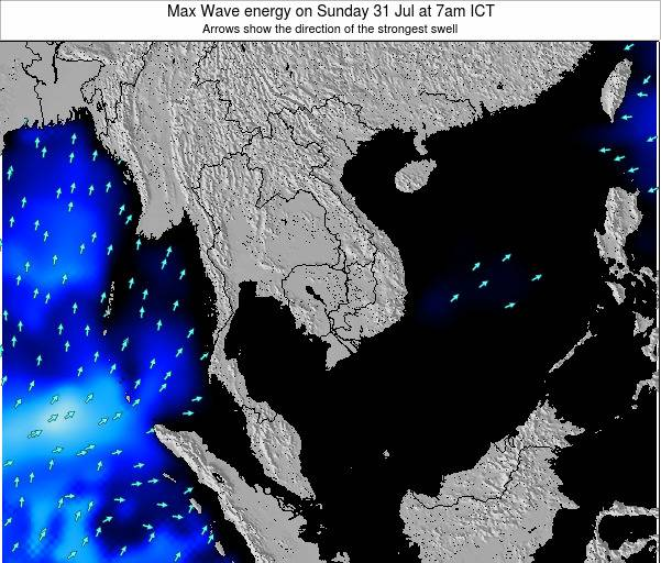 Thailand Max Wave energy on Thursday 31 Jul at 7am ICT