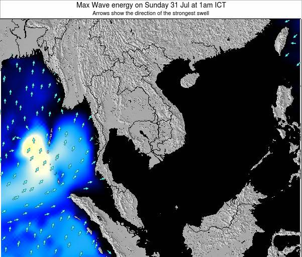 Thailand Max Wave energy on Sunday 27 Apr at 1pm ICT