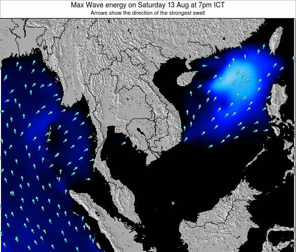 Thailand Max Wave energy on Wednesday 29 May at 7pm ICT