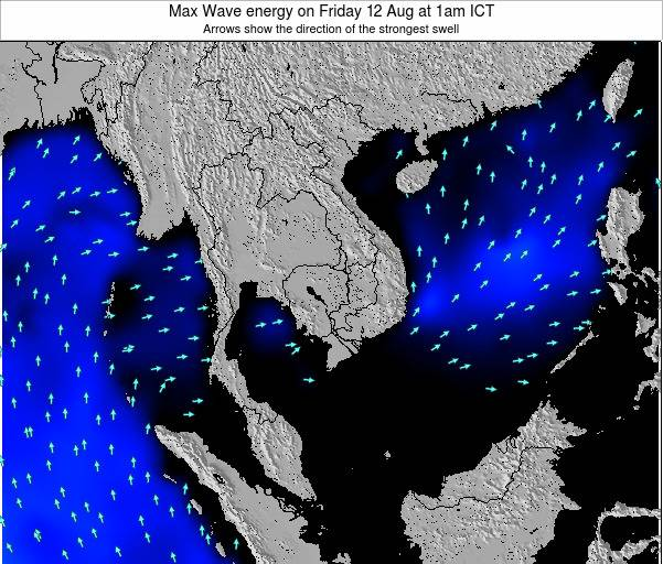 Thailand Max Wave energy on Thursday 31 Jul at 1pm ICT