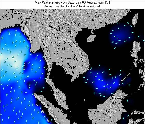 Thailand Max Wave energy on Thursday 17 Apr at 7pm ICT