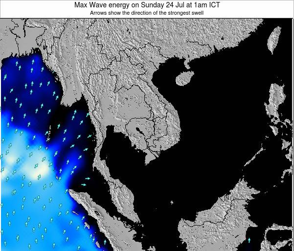 Thailand Max Wave energy on Wednesday 29 Jun at 7am ICT
