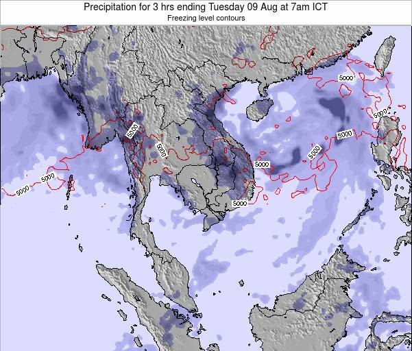 Thailand Precipitation for 3 hrs ending Sunday 26 May at 7pm ICT