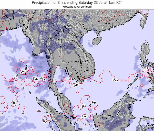 Thailand Precipitation for 3 hrs ending Thursday 30 May at 7am ICT