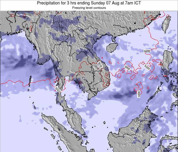 Thailand Precipitation for 3 hrs ending Thursday 23 May at 1pm ICT