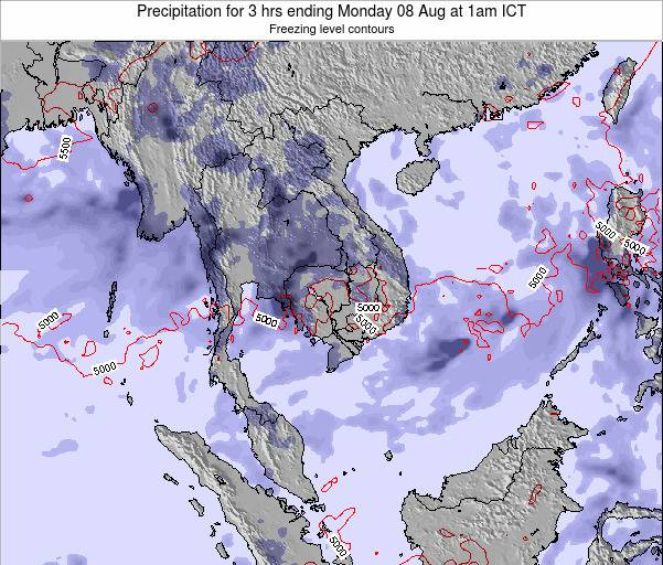 Cambodia Precipitation for 3 hrs ending Tuesday 28 May at 7pm ICT