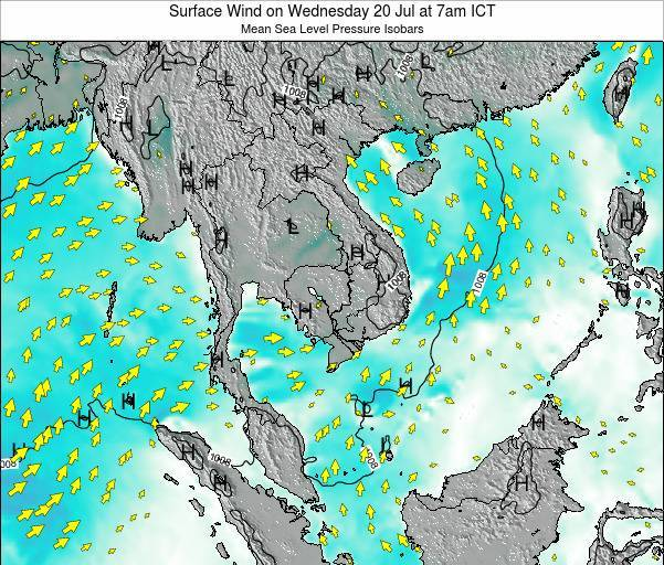 VietNam Surface Wind on Monday 20 May at 1pm ICT