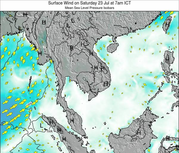 VietNam Surface Wind on Sunday 26 May at 1pm ICT