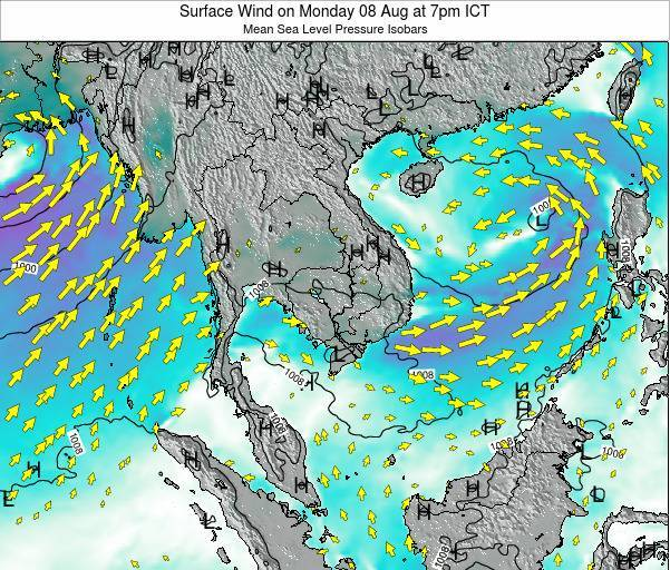 VietNam Surface Wind on Monday 20 May at 7am ICT