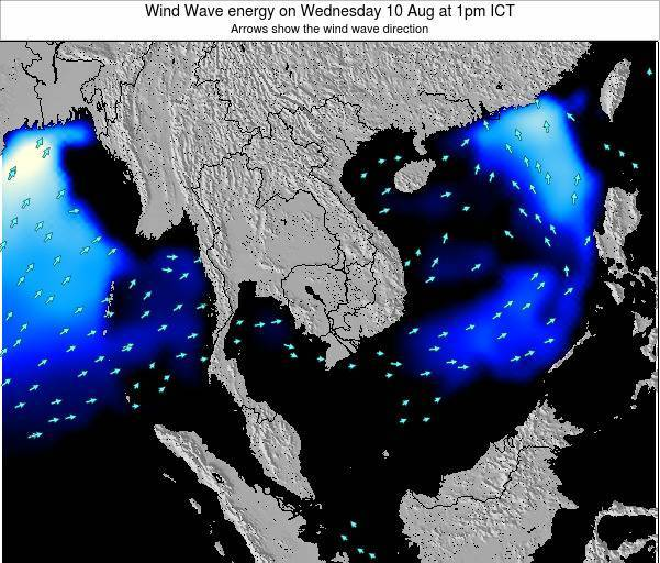 Thailand Wind Wave energy on Sunday 26 May at 7pm ICT