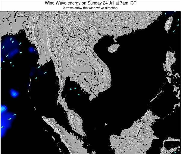 Thailand Wind Wave energy on Thursday 30 May at 7am ICT