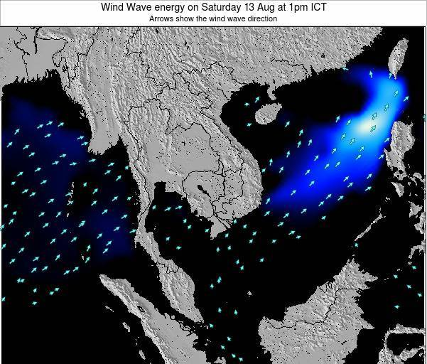 Thailand Wind Wave energy on Wednesday 29 May at 1pm ICT