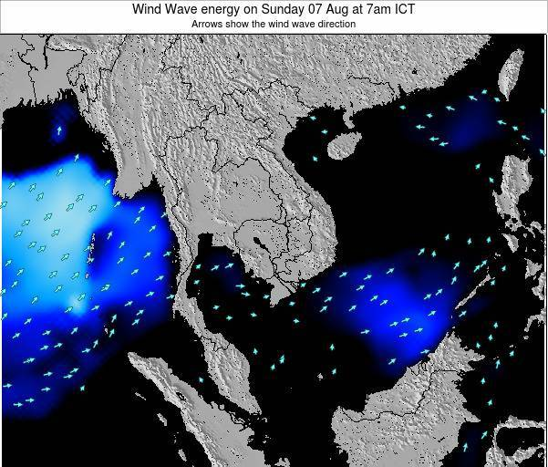 Thailand Wind Wave energy on Monday 27 May at 1pm ICT