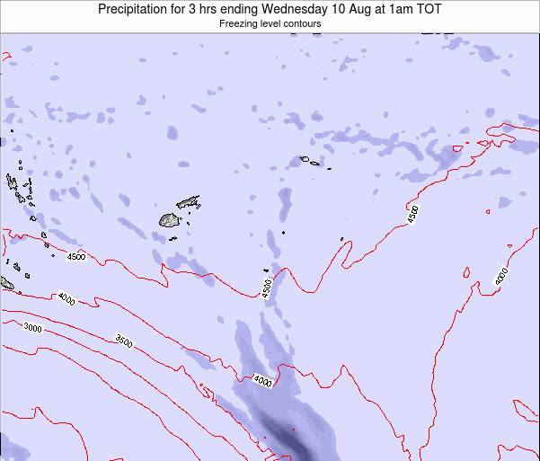 Tonga Precipitation for 3 hrs ending Wednesday 23 Apr at 7am TOT