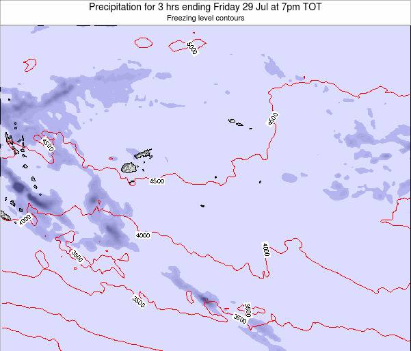 Tonga Precipitation for 3 hrs ending Tuesday 29 Jul at 1pm TOT