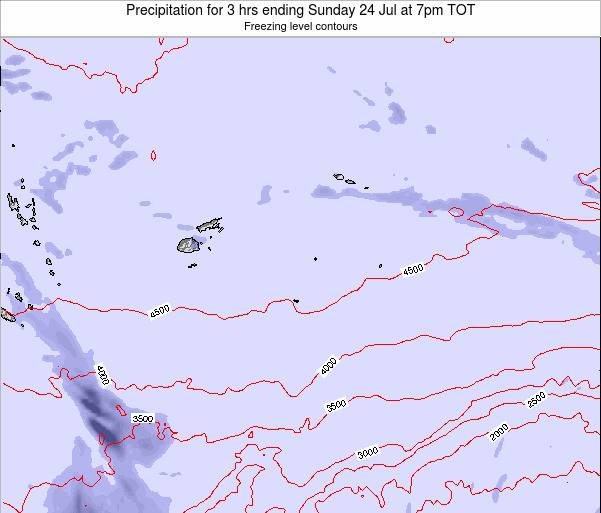 Tonga Precipitation for 3 hrs ending Sunday 26 May at 1pm TOT
