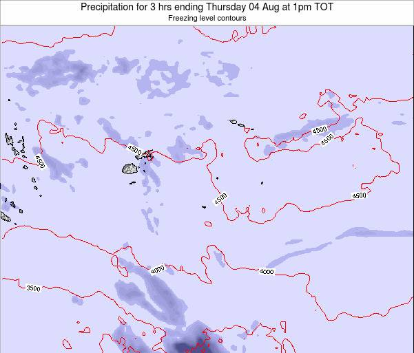 Tonga Precipitation for 3 hrs ending Friday 07 Mar at 7pm TOT