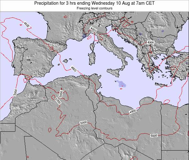 Tunisia Precipitation for 3 hrs ending Sunday 26 May at 1pm CET