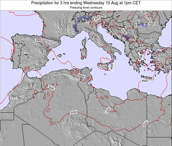 Tunisia Precipitation for 3 hrs ending Wednesday 29 May at 7am CET map