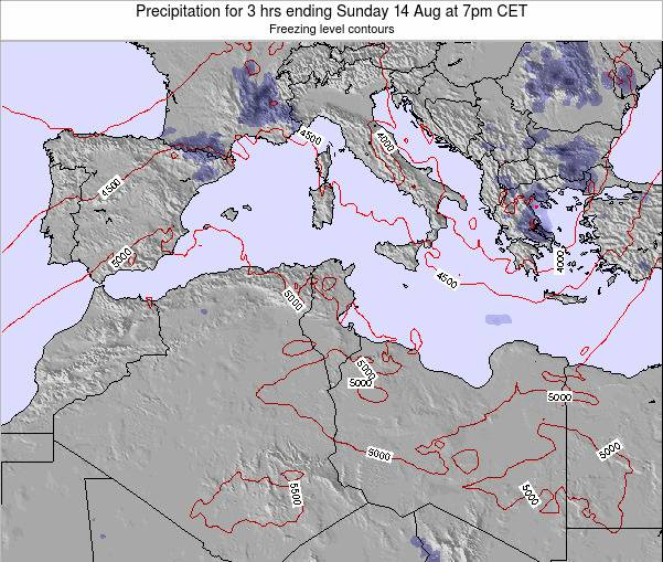 Tunisia Precipitation for 3 hrs ending Sunday 28 May at 7pm CET