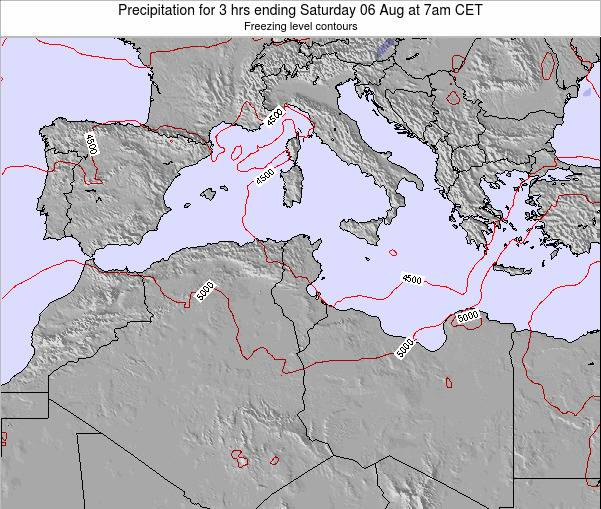 Tunisia Precipitation for 3 hrs ending Wednesday 14 Dec at 7am CET
