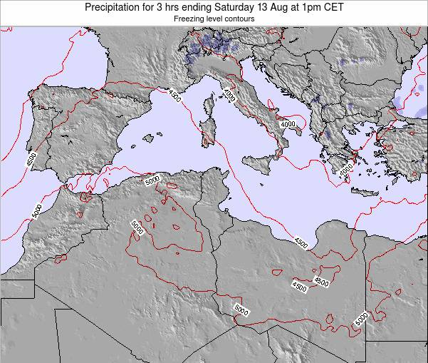 Tunisia Precipitation for 3 hrs ending Wednesday 29 May at 1am CET map