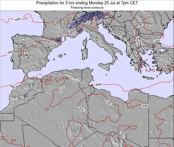 Algeria Precipitation for 3 hrs ending Thursday 23 May at 7am CET