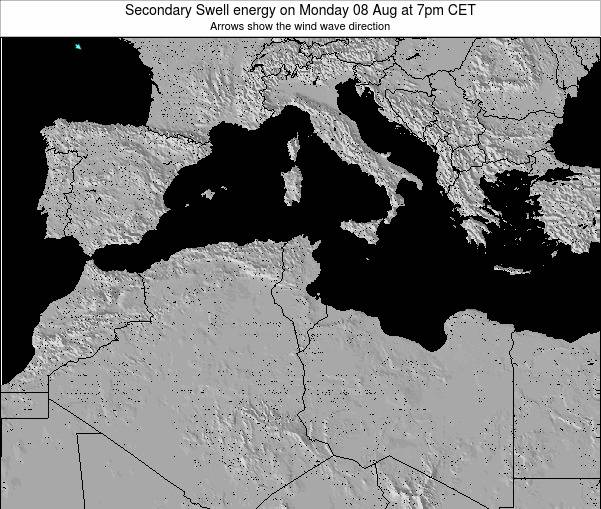 Tunisia Secondary Swell energy on Sunday 20 Apr at 1am CET