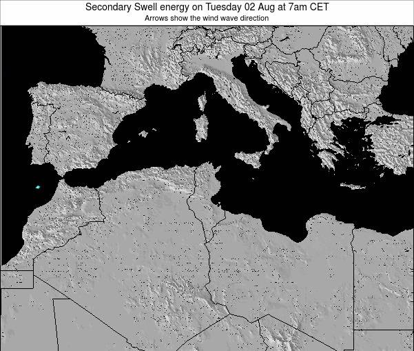 Tunisia Secondary Swell energy on Tuesday 31 May at 1am CET