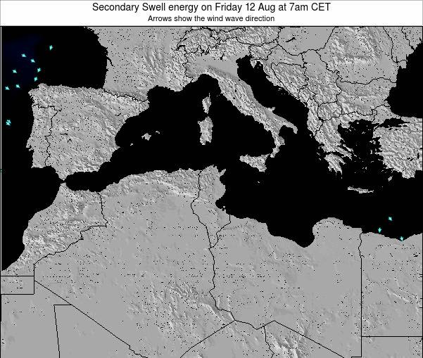 Tunisia Secondary Swell energy on Sunday 23 Jun at 1pm CET