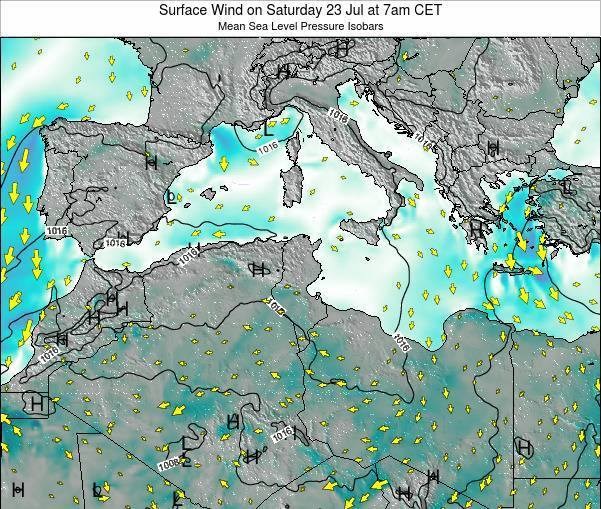 Algeria Surface Wind on Friday 24 May at 1pm CET