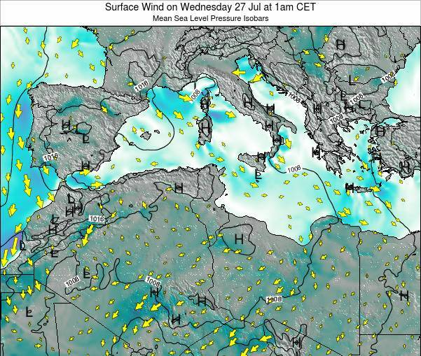 Algeria Surface Wind on Sunday 26 May at 1am CET