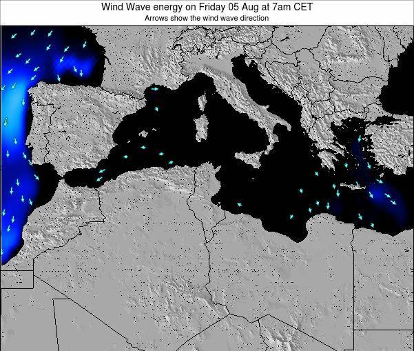 Algeria Wind Wave energy on Monday 28 Jul at 7am CET