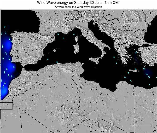 Algeria Wind Wave energy on Thursday 12 Dec at 7am CET