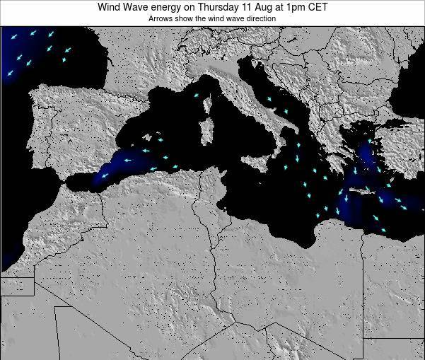 Algeria Wind Wave energy on Monday 25 Aug at 1am CET